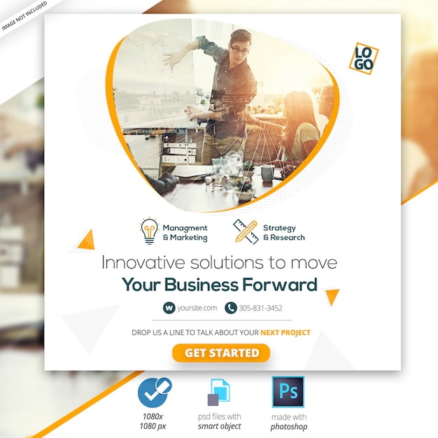 Marketing business social instagram media bannière web PSD Premium