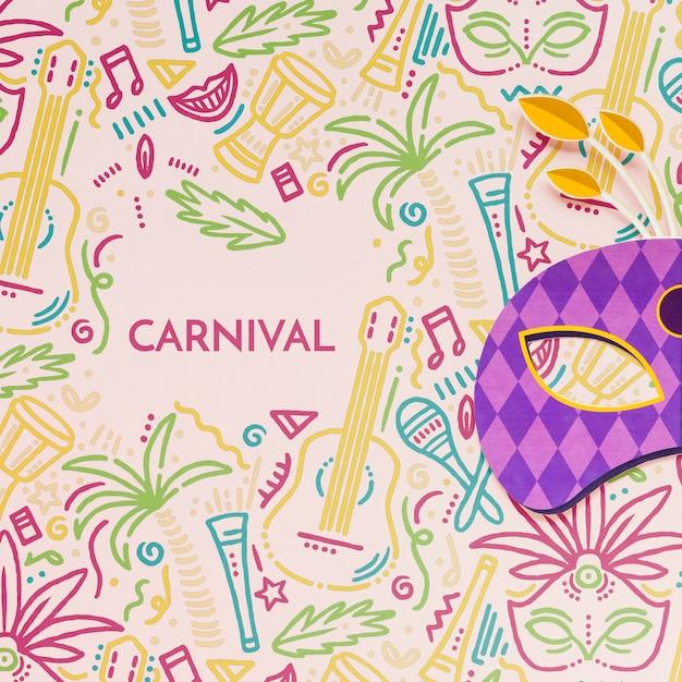 Masque De Carnaval Brésilien Coloré Psd gratuit