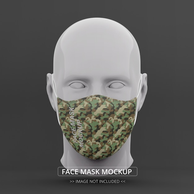 Masque Facial Maquette Vue De Face Mannequin Homme PSD Premium