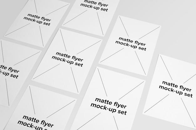 Matte Flyer Mock Up Collection Psd gratuit