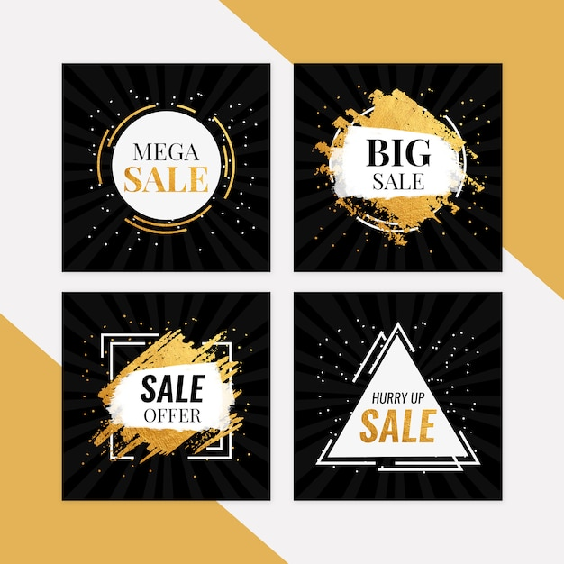Mega sale banner set PSD Premium