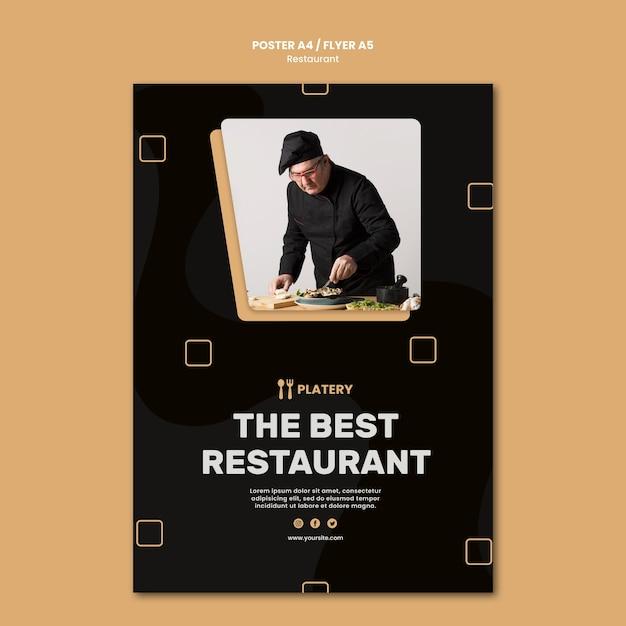 Le Meilleur Modèle D'affiche De Restaurant Psd gratuit