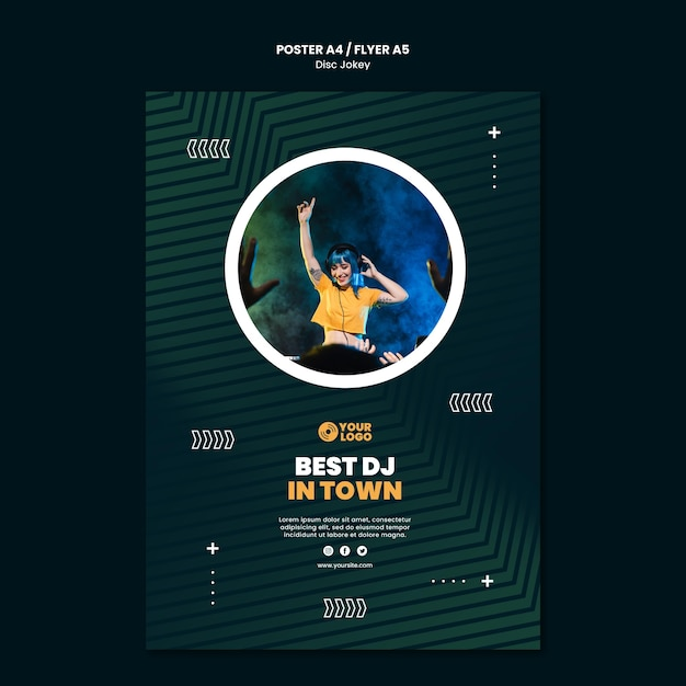 Meilleur Modèle De Flyer Dj En Ville PSD Premium
