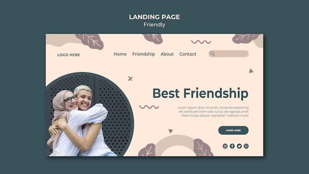 Meilleur Modèle De Page De Destination D'amitié Psd gratuit