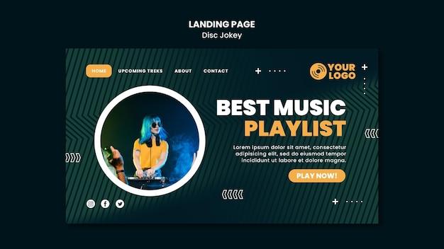 Meilleur Modèle De Page De Destination De Playlist Musicale Psd gratuit