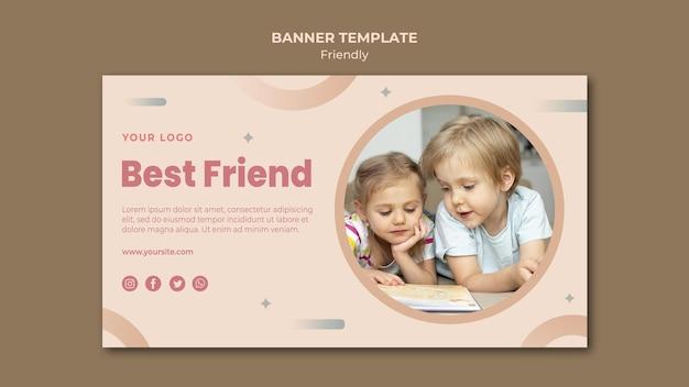 Meilleur Modèle Web De Bannière Ami Psd gratuit