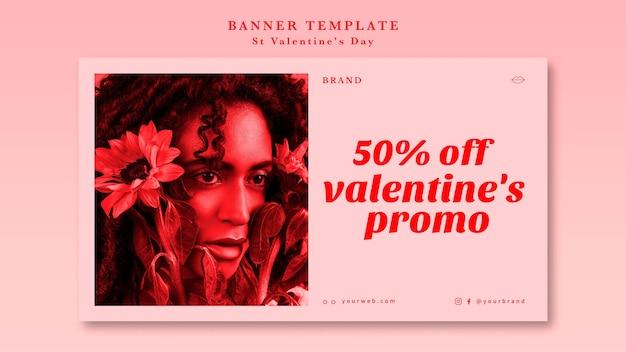 Meilleure offre offre de saint valentin avec modèle de bannière femme Psd gratuit