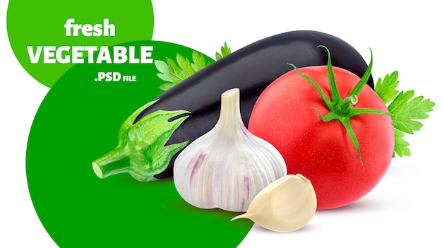 Mélange De Légumes Isolés PSD Premium