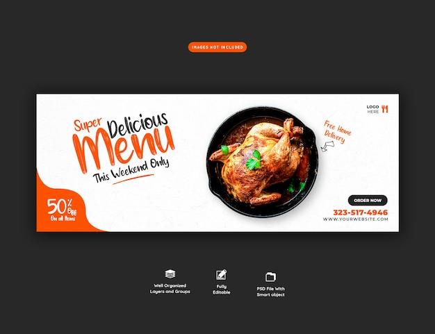Menu De Nourriture Et Modèle De Couverture De Médias Sociaux De Restaurant Psd gratuit