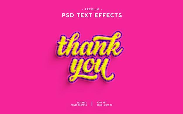 Merci effet de texte PSD Premium