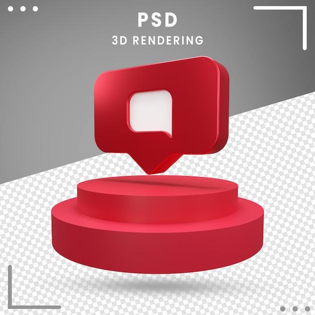 Message Logo Rotation 3d Instagram PSD Premium