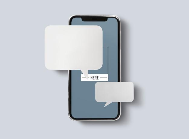 Messagerie Instantanée Sur Maquette De Téléphone Portable Psd gratuit