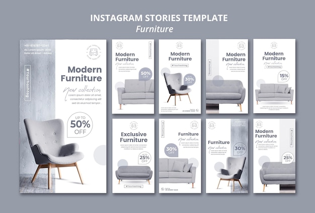 Meubles Instagram Stories Psd gratuit