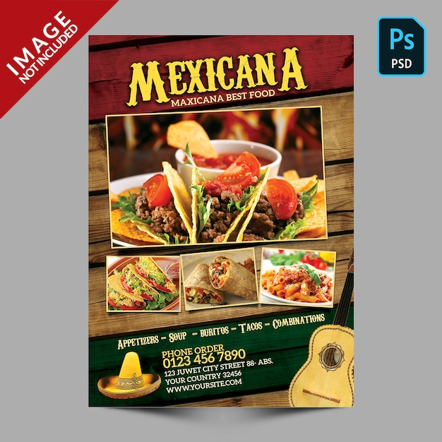 Mexicana food promotion PSD Premium