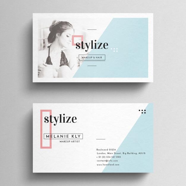 Minimal clean business card tempalte Psd gratuit
