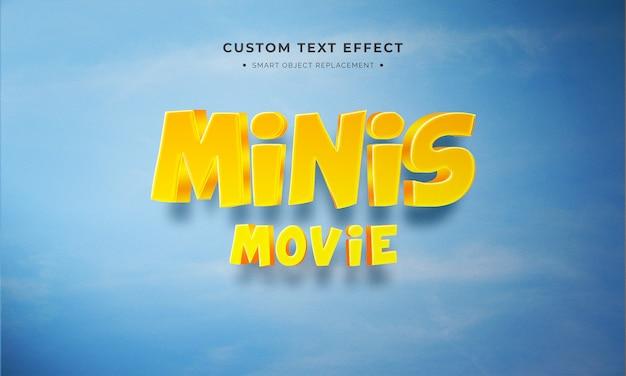 Minis Style De Texte 3d PSD Premium