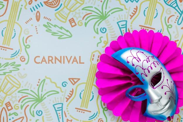 Mise à Plat Du Masque De Carnaval Brésilien Psd gratuit