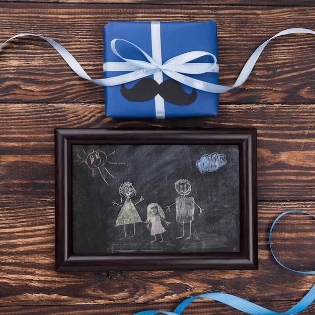Mise à Plat De La Maquette Du Concept De La Fête Des Pères Psd gratuit