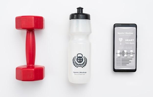 Mobile Avec Bouteille D'eau à Côté Psd gratuit