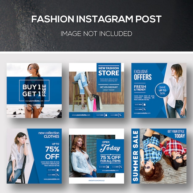 Mode instagram post PSD Premium