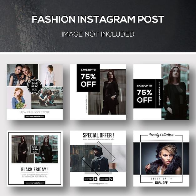 Mode Instagram Post PSD Premium