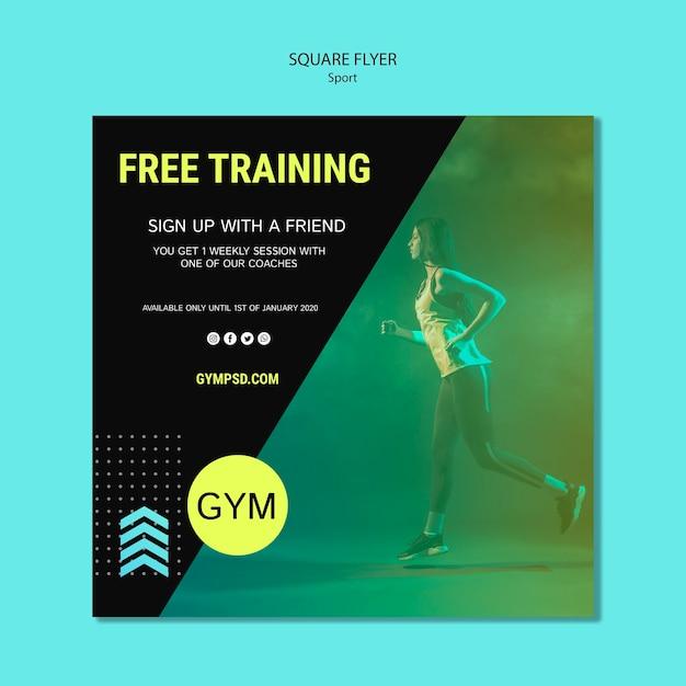Modèle d'affaires de sport flyer carré Psd gratuit
