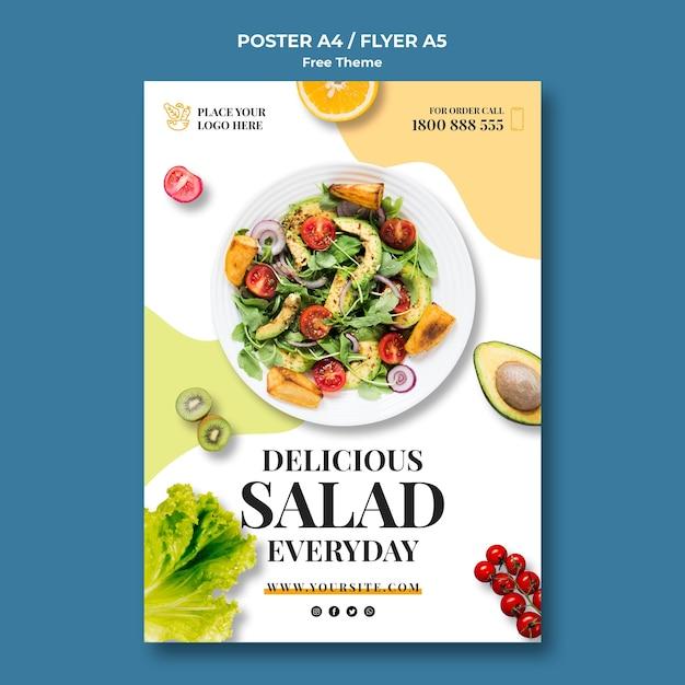 Modèle D'affiche D'aliments Sains PSD Premium