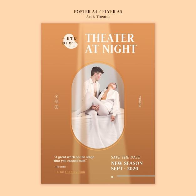 Modèle D'affiche D'art Et De Théâtre Psd gratuit