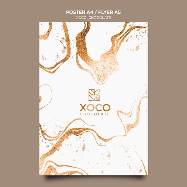 Modèle D'affiche Au Chocolat Xoco Psd gratuit