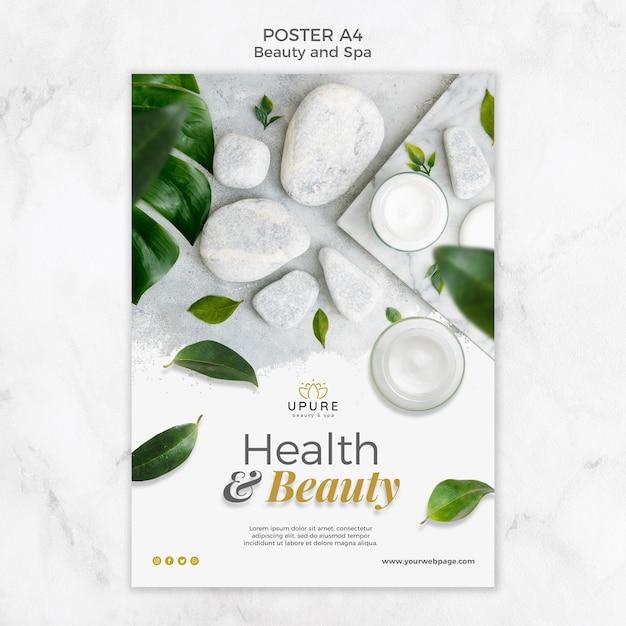 Modèle D'affiche De Beauté Et Spa Psd gratuit