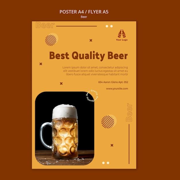 Modèle D'affiche De Bière De Meilleure Qualité Psd gratuit