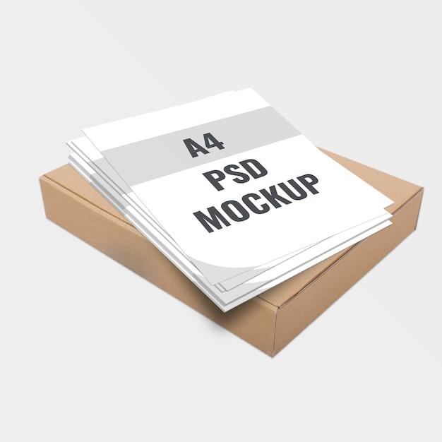 Modèle d'affiche et de boîte PSD Premium