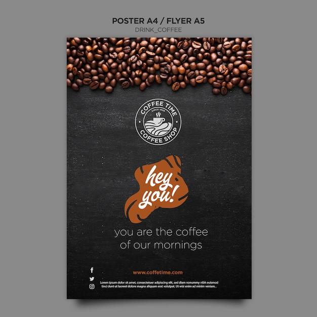 Modèle D'affiche De Café Psd gratuit