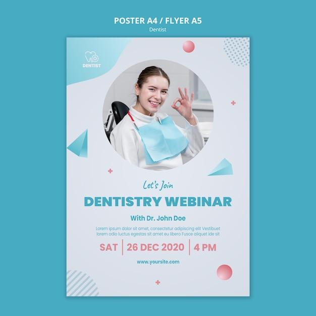 Modèle D'affiche De Clinique De Dentiste Psd gratuit