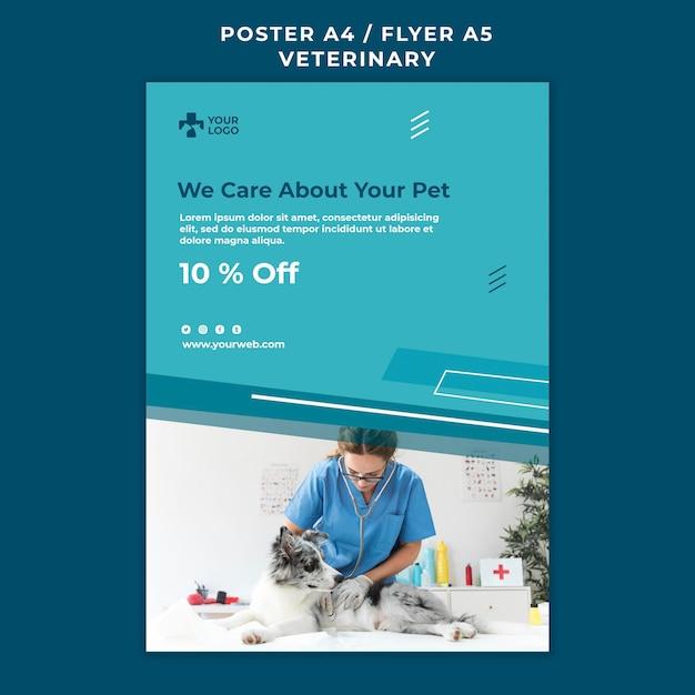 Modèle D'affiche De Clinique Vétérinaire Psd gratuit