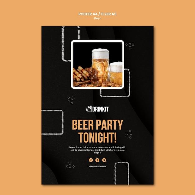 Modèle D'affiche De Concept De Bière Psd gratuit