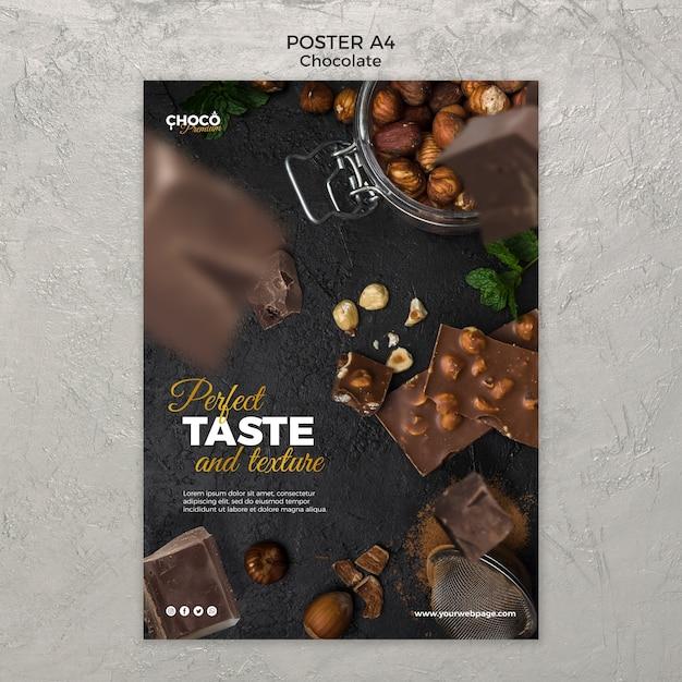 Modèle D'affiche Concept Chocolat Psd gratuit