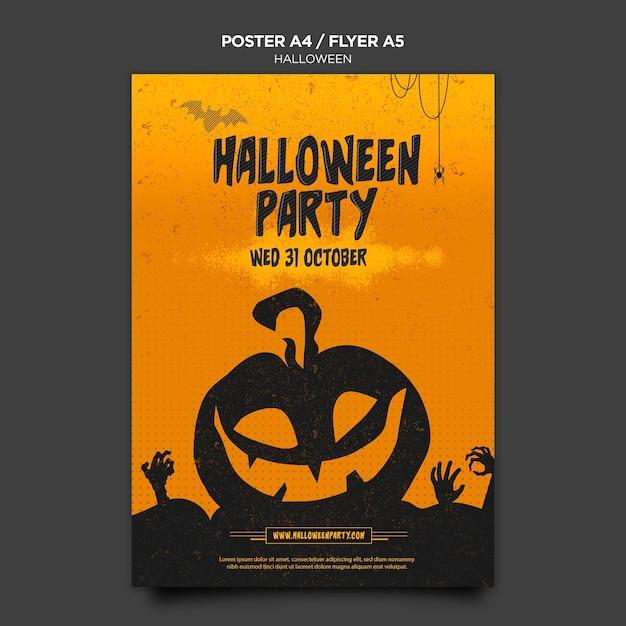 Modèle D'affiche Concept Halloween Psd gratuit