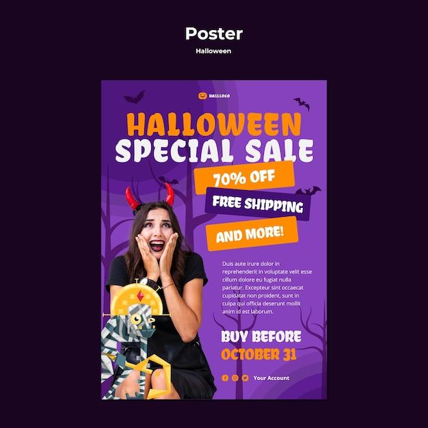 Modèle D'affiche De Concept Halloween Psd gratuit
