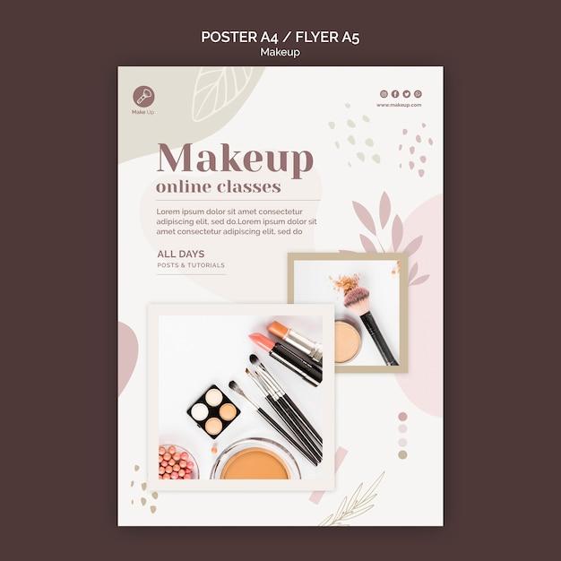 Modèle D'affiche De Concept De Maquillage Psd gratuit
