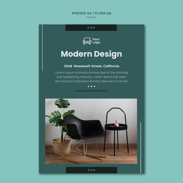 Modèle D'affiche De Concept De Meubles Psd gratuit