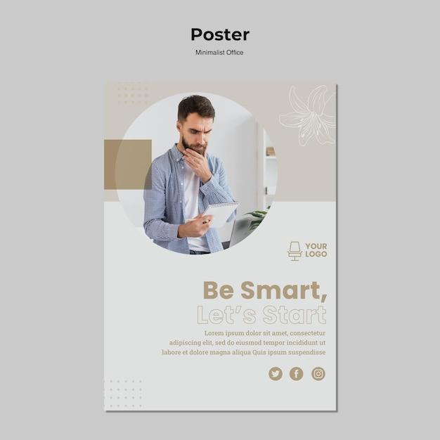 Modèle D'affiche De Concept De Minimalisme Psd gratuit