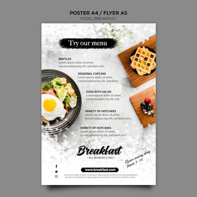 Modèle D'affiche De Concept De Petit Déjeuner Psd gratuit
