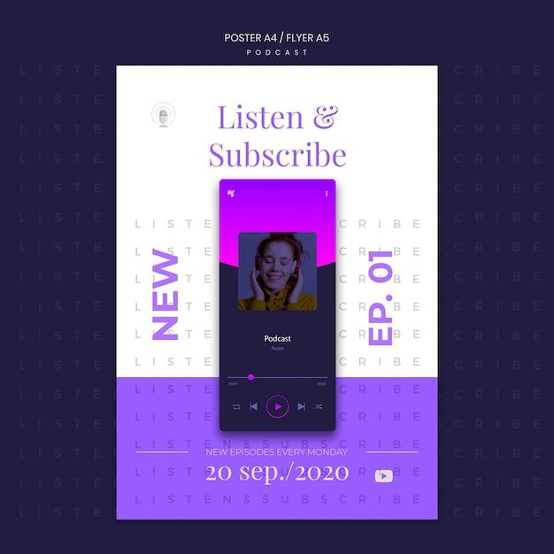 Modèle D'affiche De Concept De Podcast Psd gratuit
