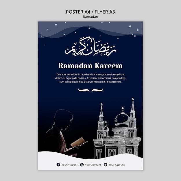 Modèle D'affiche De Concept De Ramadan Psd gratuit