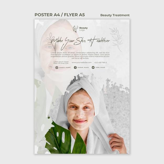 Modèle D'affiche De Concept De Traitement De Beauté | PSD Gratuite