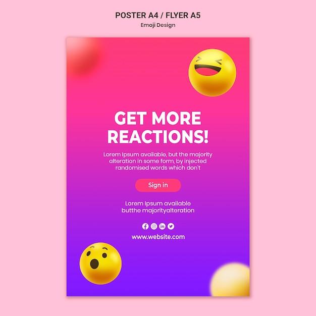 Modèle D'affiche De Conception Emoji Psd gratuit