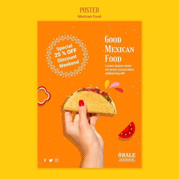 Modèle D'affiche Cuisine Mexicaine Psd gratuit