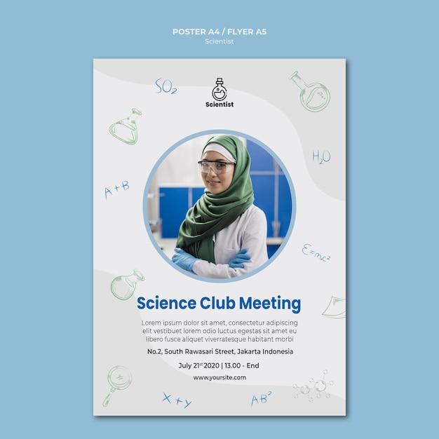 Modèle D'affiche Du Club Scientifique Psd gratuit