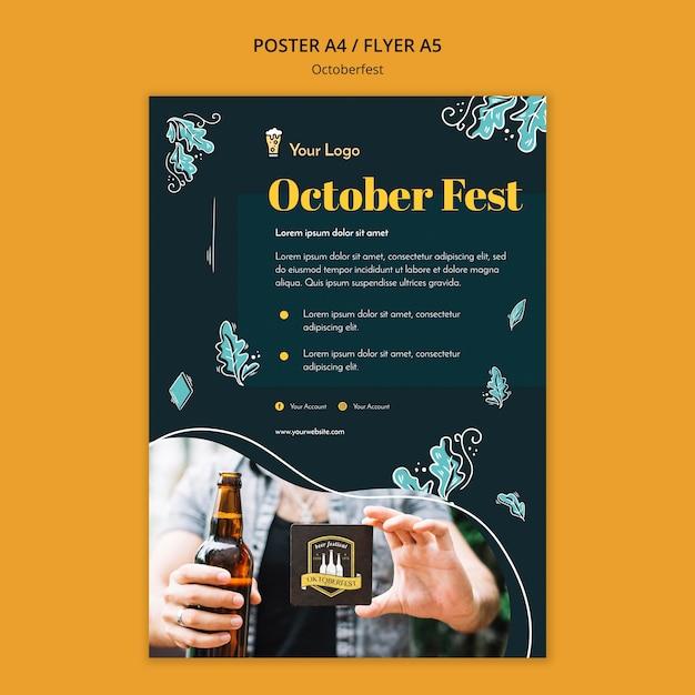 Modèle D'affiche Du Festival Oktoberfest Psd gratuit
